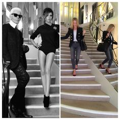 A dream moment walking the Chanel mirrored staircase in Paris X