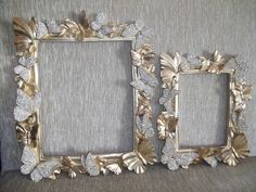 Hobbies And Crafts, Crafts To Sell, Diy And Crafts, Mirror Photo Frames, Wall Mirror, Cardboard Frames, Furniture Painting Techniques, Decoupage Vintage, Oval Frame