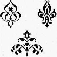 Typographic ornamental vignettes 6