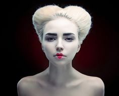 Image result for scary queen of hearts makeup
