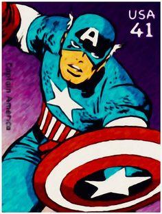 I uploaded new artwork to fineartamerica.com! - 'Captain America' - http://fineartamerica.com/featured/captain-america-lanjee-chee.html