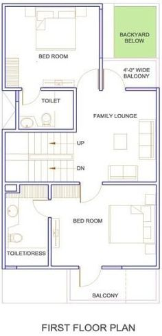 27x36 1000 square feet 3 5 marla house plan and map 35x60 house plans
