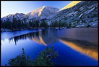 Reflections on lake at sunset. Kings Canyon National Park ( color)