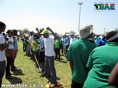Department of Agriculture Corporate Fun Day team building event at the Pretoria Show Grounds in Gauteng.