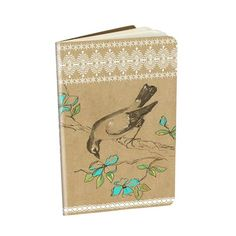 "Decorative Notebook 'Blue Blossom' - 3.5"" x 5.5"" saddle sitched notebooks with gold foil embellishments and 32 lined pages. Minimum of 6 per style #966647 $5.99  www.lambertpaint.com"