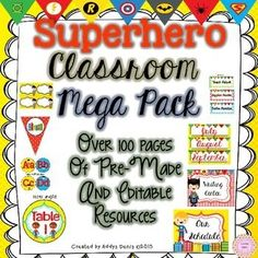 Superhero Theme Classroom Decor Pack.