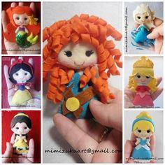 Broche de princesa, princess brooch, pin, Ariel, Rapunzel, Blancanieves, Mérida, Elsa, Anna, Pocahontas, Olaf, Bella, Mulán