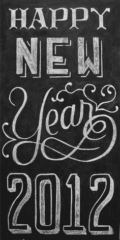 chalkboard happy new year