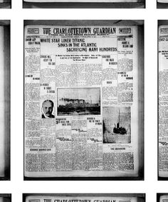 A montage of the cover images from every issue of the 1912 Guardian.