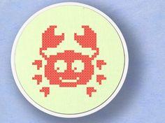 Cute Crab. Cross Stitch PDF Pattern by andwabisabi on Etsy