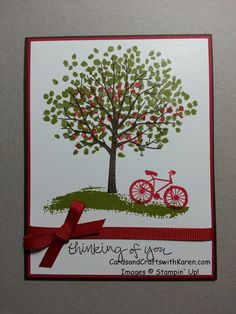 sheltering tree stampin up | Mikey – Thinking of You | Cards and Crafts with Karen
