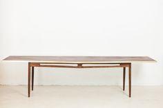 Giant Golden Edge Teak Coffee Table - Studio Fabrika