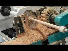 CNC wood lathe make long thin stick - YouTube Cnc Wood Lathe, Wood Sticks, Youtube, Youtubers, Youtube Movies