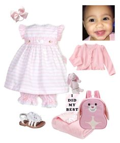 """""""Riley pretty in pink 2017"""" by angela-glasco-may on Polyvore featuring Gymboree, Gund and Apple Park"""