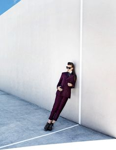 Bekah Jenkins Dons Menswear Inspired Style for Zoltan Tombor in Schon #photography #inspiration #fashion