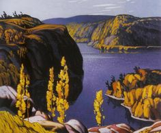 October Morning by Canadian painter A. Casson – He was a member of a group of Canadian artists known as The Group of Seven. Not to confuse this painting with other paintings of the same name by A. Tom Thomson, Emily Carr, Group Of Seven Artists, Group Of Seven Paintings, Canadian Painters, Canadian Artists, Landscape Art, Landscape Paintings, Landscapes