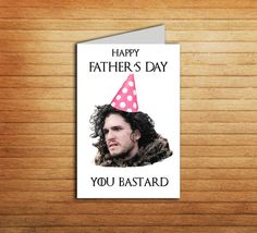 Game of Thrones Father's day card Printable by EnjoyPrintable #printable #jonsnow #got #card #winteriscomming #gameofthrones #youknownothing #birthday #nameday #happy #snow #father #day #card #dad #gift