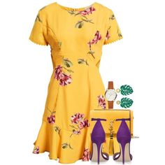 Untitled #2834 by seventeene on Polyvore featuring Socialite, Yves Saint Laurent and springdresses