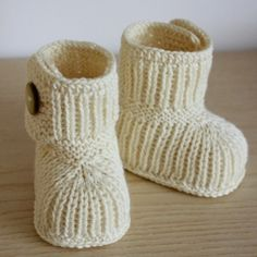 Cute little baby booties.