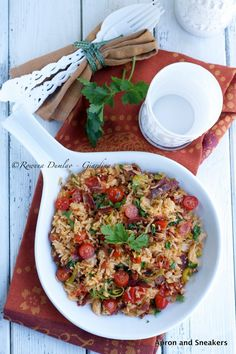 Apron and Sneakers - Cooking & Traveling in Italy and Beyond: Chorizo Rice With Tomatoes