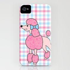 Pink Poodle - iPhone case by jadeboylan - http://society6.com/jadeboylan/Pink-Poodle-h4a_iPhone-Case
