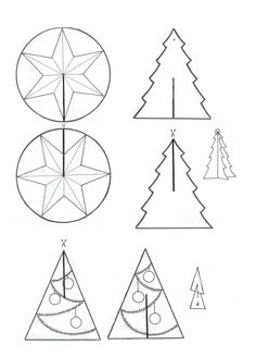knutselen kerst - Google zoeken Christmas Crafts For Kids, All Things Christmas, Holiday Crafts, Christmas Holidays, Christmas Decorations, Christmas Ornaments, Christmas Tree Pattern, Paper Crafts, Diy Crafts