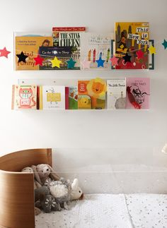 Booksee shelves via The Tale of Zoe Foster Blake & Sonny Blake - The Grace Tales