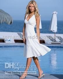 Wholesale New Short Beach Wedding Dress Bride Dress Any Size 01513