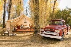 Glamping @ Tent City at Redtail Resort – an ultra luxurious wooded glamping community.