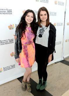 Grace Phipps and Maia Mitchell - Elizabeth Glaser Pediatric AIDS Foundations 24th Annual A Time For Heroes - Red Carpet