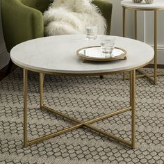 Round Coffee Table Modern, Stylish Coffee Table, Coffee Tables For Sale, Round Table Top, Contemporary Coffee Table, Coffee Table With Storage, Living Room Furniture, Living Room Decor, White Laminate