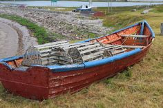 A boat at the Gravels in Port Au Port, Newfoundland.