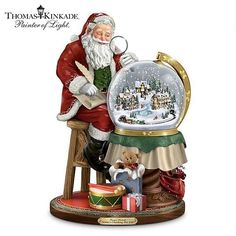 Shop great selection of rare Thomas Kinkade gifts and collectibles at The Bradford Exchange. We have Exclusive collection of art of Thomas Kinkade featuring on Limited Edition collectibles, Paintings, Home Decor and more. Santa Figurines, Christmas Figurines, Collectible Figurines, Thomas Kinkade Art, Thomas Kinkade Christmas, Musical Christmas Decorations, Christmas Centerpieces, Art Thomas, Christmas Snow Globes