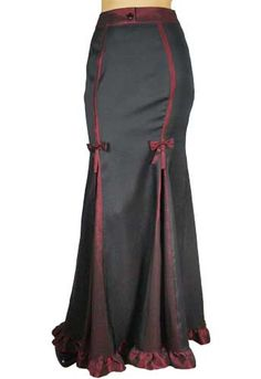 Black Elegant Long Steampunk Victorian Skirt $39.95 Store: ChicStar.com