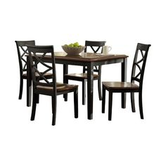 Beachcrest Home Mallie Tapered Square Wood 5 Piece Dining Set | Products