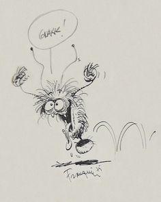 Survivant de l'époque des p'tits monstres 2 par André Franquin - Illustration