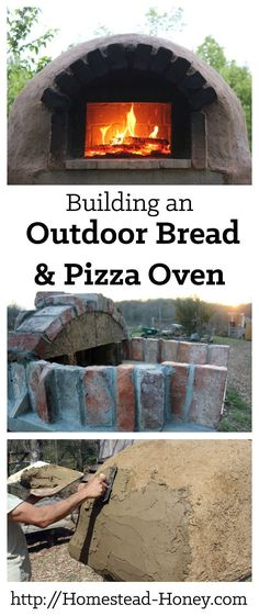 Our family built this durable and beautiful brick and cob outdoor pizza oven for under $200. As we did, we documented the entire process, so you could also build your own backyard pizza oven. | Homestead Honey #outdoordiyideas