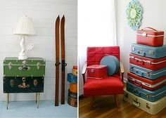 Get the Look Decor: Anything Goes | The Etsy Blog Suitcase decor
