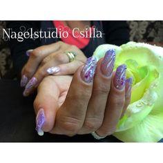 Paars#bloem#nails