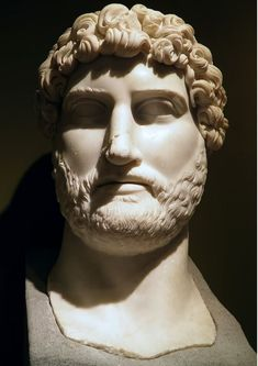 Hadrian (l. 78-138 CE) was emperor of Rome (r. 117-138 CE) and is recognized as the third of the Five Good Emperors (Nerva, Trajan, Hadrian, Antoninus Pius, and Marcus Aurelius) who ruled justly. His reign marked the height of the Roman Empire, usually given as c. 117 CE, and provided a firm foundation for his successor. Roman History, European History, Art History, Church History, Ancient Rome, Ancient Art, Ancient History, Sculpture Romaine, History Encyclopedia