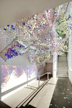 Holographic Ceiling. Love this!!
