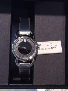 Movado Woman's Lino Diamond Black Dial Swiss Quarts Watch