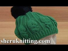 Crochet Cable Stitch Pom Pom Hat – Yarnandhooks
