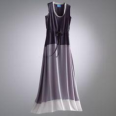 Simply Vera Vera Wang Colorblock Chiffon Maxi Dress