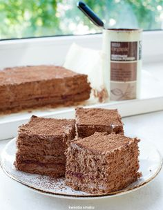 Cocoa cake without baking Baking Recipes, Cake Recipes, Cocoa Cake, Polish Recipes, Polish Food, Dessert Drinks, Pumpkin Spice Latte, How Sweet Eats, Something Sweet