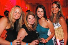 Cincinnati Children's Celestial Ball at Duke Energy Center. Pictured (L to R): Leslie Lakamp, Liz Murphy, Kate Halonen, and Katie Schuckman Duke Energy, Cultural Events, Party Pictures, Cincinnati, Culture, Celestial