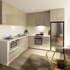 Walk through our display kitchen & bathroom to see the fittings of a new MelbourneONE apartment. #melbourneone