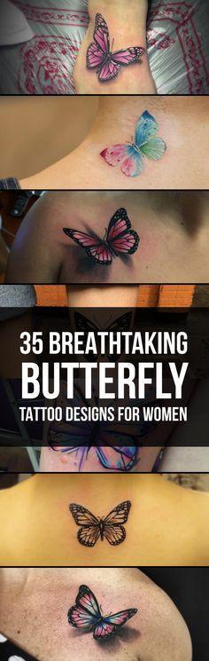 Breathtaking Butterfly Tattoo Designs   TattooBlend