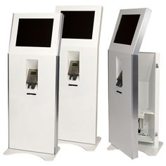 Ticketing Kiosk Lectern - Ultra slim 19 touch, retail kiosk with 80mm printer and unattended chip and pin unit. It is provided as front or rear access with different bracket options for fitting into store; the Lectern can be fitted barely 30cm from the wall leaving plenty of room for shoppers, giving you the best ROI per m² but whilst still providing a large front for your branding and important calls. It comes with several side finishes including plain, metal, coloured and 3 wood finishes…