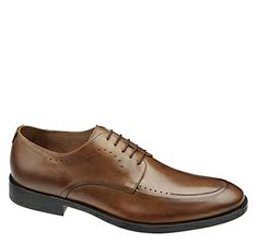 Johnston & Murphy: TYNDALL MOC LACE-UP - Tan Italian Calfskin